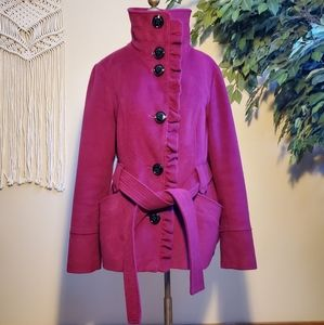Steve Madden Purple Overcoat/ Jacket Size Large